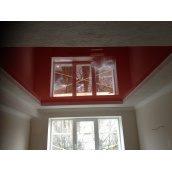 Натяжной потолок красный глянцевый 0,18 мм