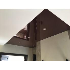 Натяжна стеля кориичнева глянцева 0,18 мм