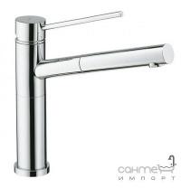 Кухонний змішувач з висувним душем SystemCeram Trend shower 10565 Матовий Хром