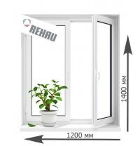Вікно металопластикове Rehau 60 поворотно-відкидне 1200х1400 мм