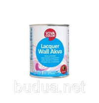 Лак полуматовый Vivacolor Lacquer Wall Akva, EP 0.9 л