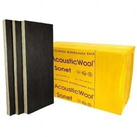 Акустическая минеральная вата AcousticWool Sonet P 1000x600x100 мм.