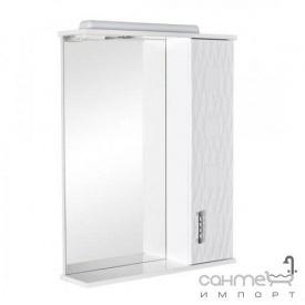 Зеркальный шкафчик с подсветкой Аква Родос Ассоль 65