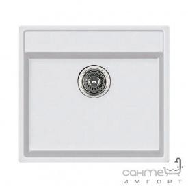 Гранітна кухонна мийка Fabiano Quadro 56х51 Alpine White/Білий