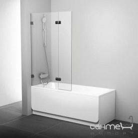 Шторка для ванны подвижная двухэлементная Ravak BVS2-100 L 7ULA0A00Z1 хром/прозрачное левая