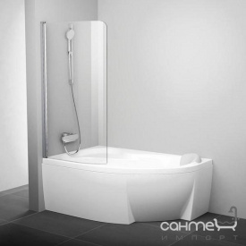 Шторка для ванны Ravak CVSK1 140/150 L белый/прозрачное 7QLM0100Y1 левая