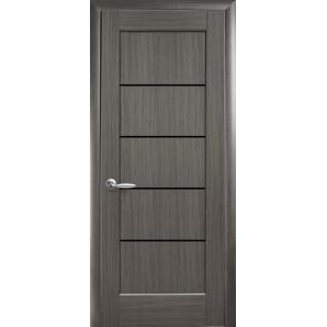 Двері міжкімнатні Новий Стиль Світу Grey Чорне скло