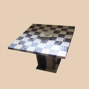 Шаховий стіл з мармуру 800*800 мм