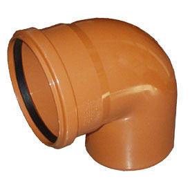 Зовнішнє коліно для каналізаційних труб 100 мм 90 градусів