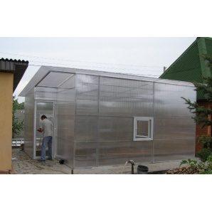 Теплиця з полікарбонату 5,5х6,5 м прозора