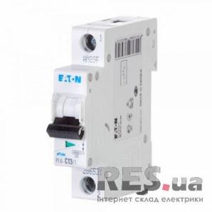 Автоматический выключатель PL6-C13/1 13А 1-полюсный Eaton