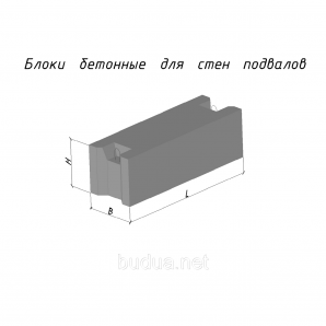 Блок фундаментный ФБС 12.4.6Т В15