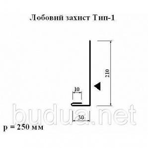 Лобовая защита тип 1 оцинкованный 0,4