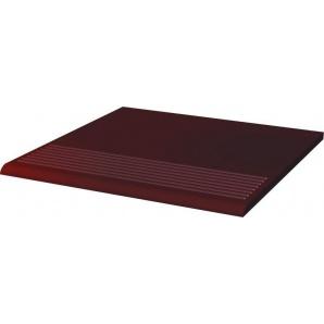 Клинкерная плитка Paradyz cloud brown ступень рельефная прямая гладкая 30x30 см