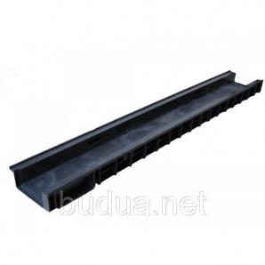 Лоток PolyMax Basic 10.15.06 пластиковый с вертикальным отводом усиленный (с оцинкованными насадками)