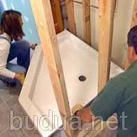 Установка ванны, душевой кабины (без смесителя)
