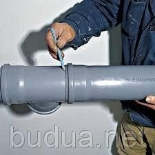 Разводка труб канализации, 1 элемент соединения.