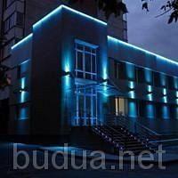 Установка, подключение прожектора для архитект-й подсветки