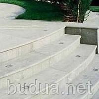 Установка светильников в ступени, бетон