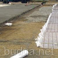 Щебень до 15 см + бетонное покрытие + армирование