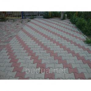 "Тротуарная плитка ""Катушка"", серый, 80 мм"