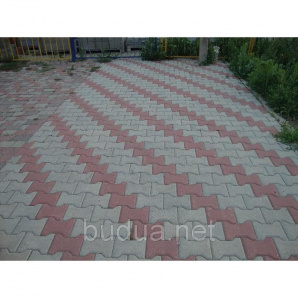 "Тротуарная плитка ""Катушка"", серый, 40 мм"