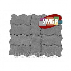 """Тротуарная плитка """"Змейка"""", серый, 40 мм"""