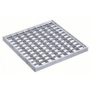 Решетка к дождеприемнику Basic 28.28 ячеистая стальная оцинкованная