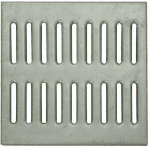 Решетка к дождеприемнику Basic 28.28 штампованная стальная оцинкованная