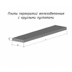 Плита перекрытия ПК 52-12-8