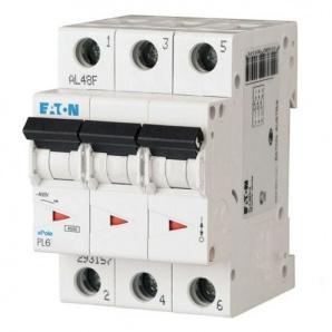 Автоматический выключатель PL6-C6 / 3 6А 3п. Eaton