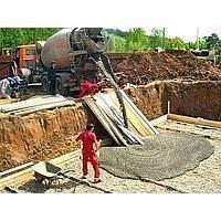 Заливка бетона с приготовлением раствора вручную