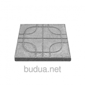 """Тротуарная плитка """"Вселенная"""" 400х400, Стандарт УМБР синяя на белом цементе 40мм"""