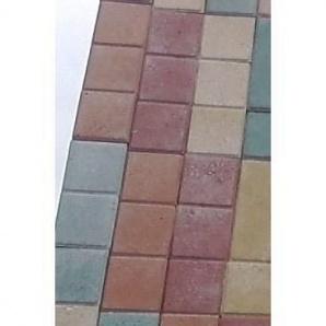 "Тротуарная плитка ""Квадрат"" Стандарт УМБР 30мм, синяя на белом цементе"