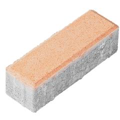"Тротуарная плитка ""Кирпич"" Стандарт УМБР синяя на белом цементе 80мм"