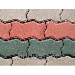 """Тротуарная плитка """"Змейка"""", цветной,40 мм"""