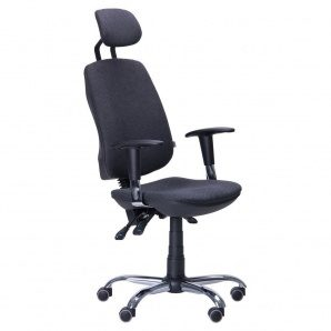Кресло AMF Регби MF Chrome Квадро-02 с подголовником