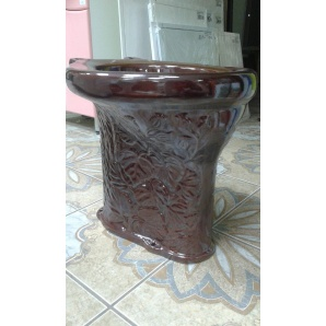 Унитаз дачный коричневый