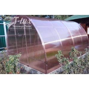 Теплиця збірна Люкс з оцинкованої труби з полікарбонатом Greenhouse Nano 4 мм 4х4х2,5 м