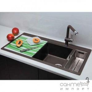 Гранітна кухонна мийка Schock Cristadur Horizont D150 правобічна 88 stone