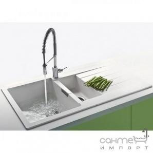 Гранітна кухонна мийка Schock Cristadur Signus D150 оборотна 89 magnolia