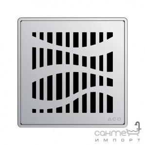 Квадратна решітка душового трапа з нержавіючої сталі без замка ACO ShowerPoint Квадрат 5141.08.22