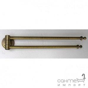 Тримач рушників подвійний Pacini & Saccardi Florence 30104/B бронза