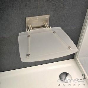 Сидіння для ванної кімнати Ravak Ovo B clear B8F0000015