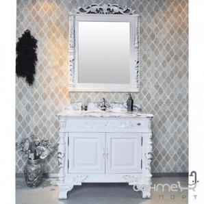 Комплект меблів для ванної кімнати Godi US-08B AW (слонова кістка матова, патина срібло)