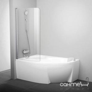 Шторка для ванни Ravak CVSK1 140/150 L білий/прозорий 7QLM0100Y1 ліва