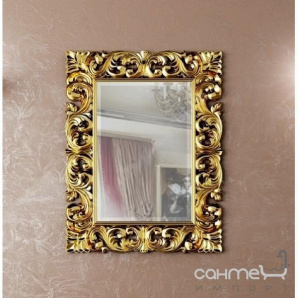 Декоративне дзеркало для ванної кімнати Marsan Penelope 112 870х1120 золото