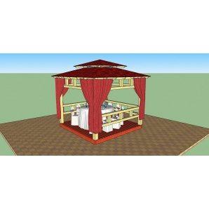 Альтанка дерев'яна відкритого типу 3х3 м
