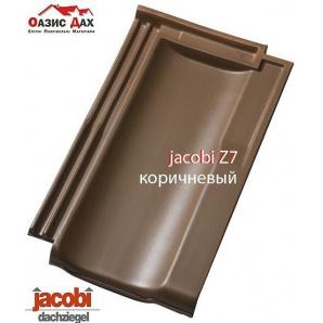 Керамічна черепиця Jacobi Z7 24,9x42,7 см коричневий