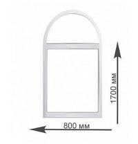 Аркове вікно Rehau 800х1700 мм